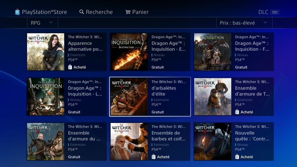 PS Store The Witcher 3 DLC