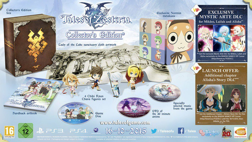 Tales of Zestiria collector's edition