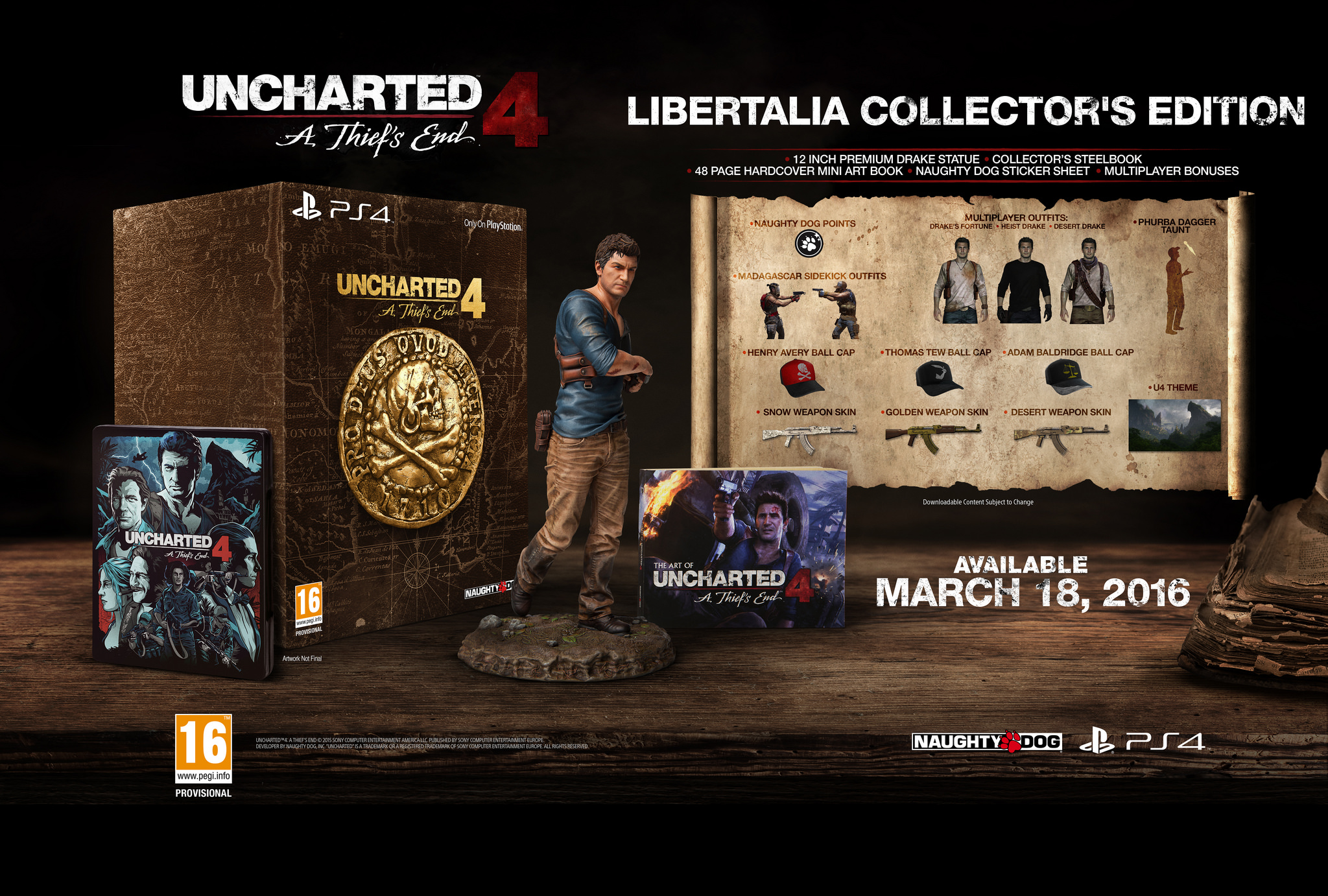 Uncharted 4 Libertalia Collector Edition