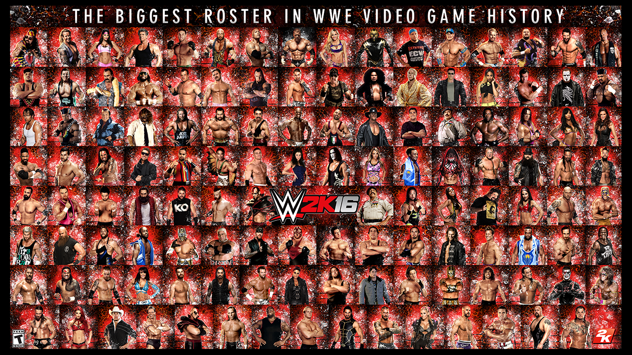roster wwe2k16