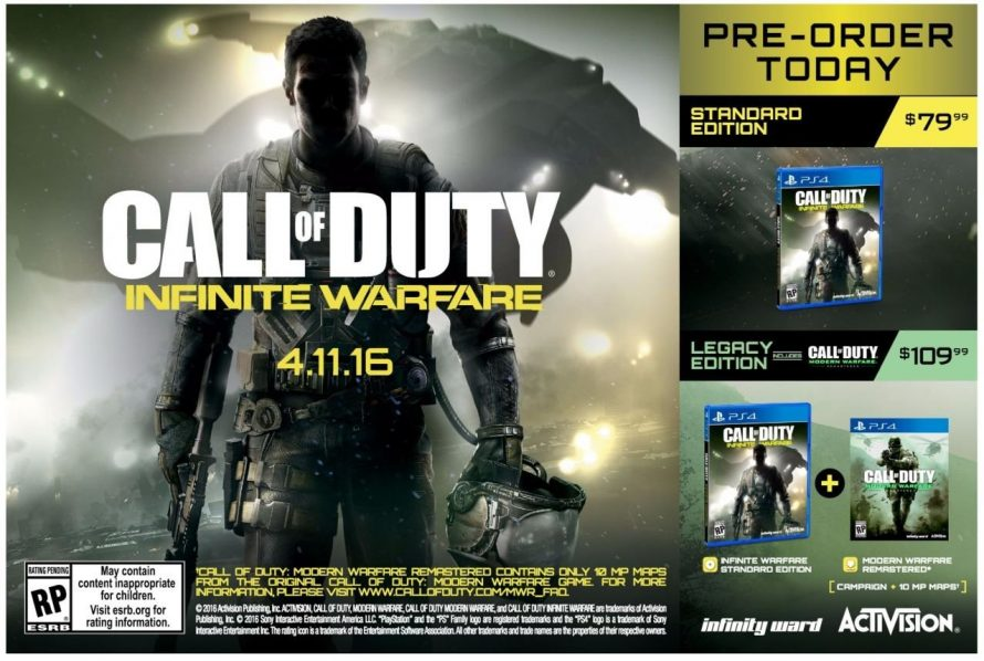 Call of Duty Infinite Warfare : La date de sortie et Modern Warfare confirmés