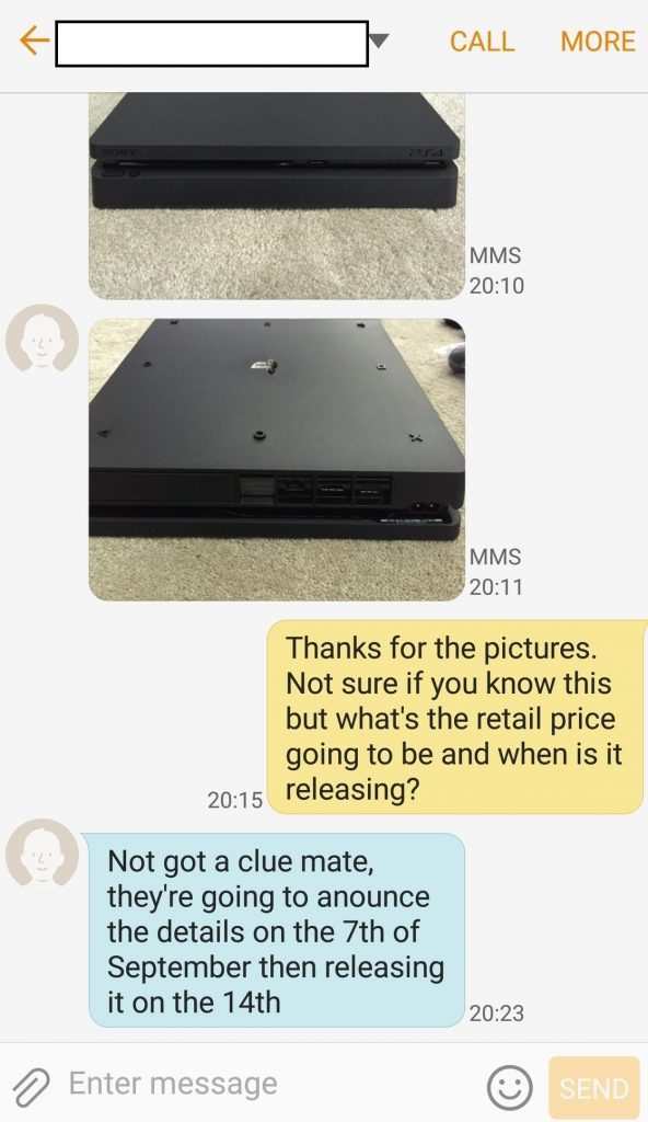 PS4 Slim release and reveal date