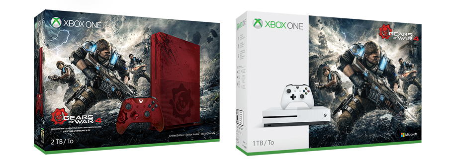 un nouveau bundle xbox one s gears of war 4 jvfrance. Black Bedroom Furniture Sets. Home Design Ideas