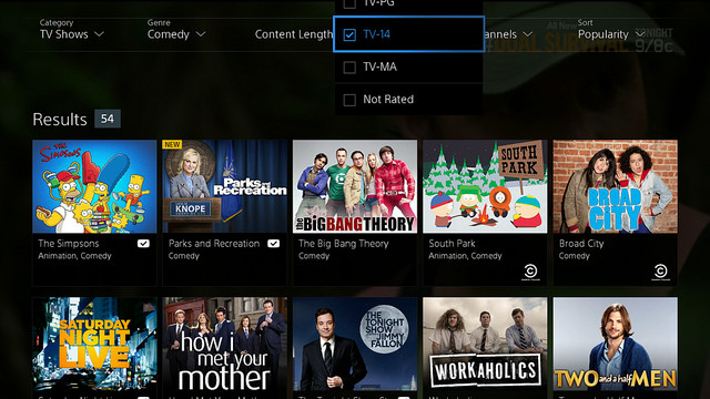 Le service de streaming PlayStation Vue lancé aux USA