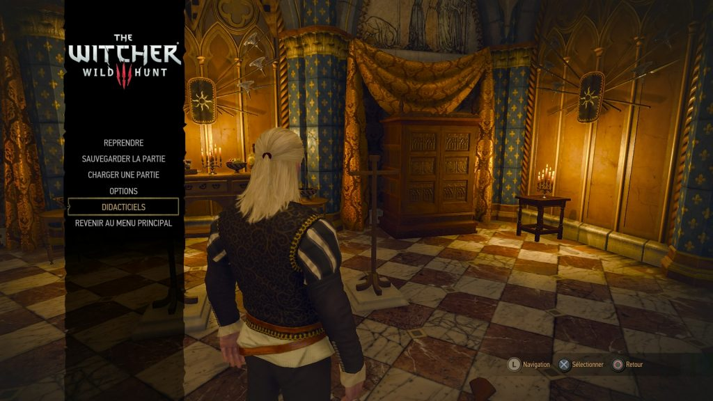 The Witcher 3 Menu principal