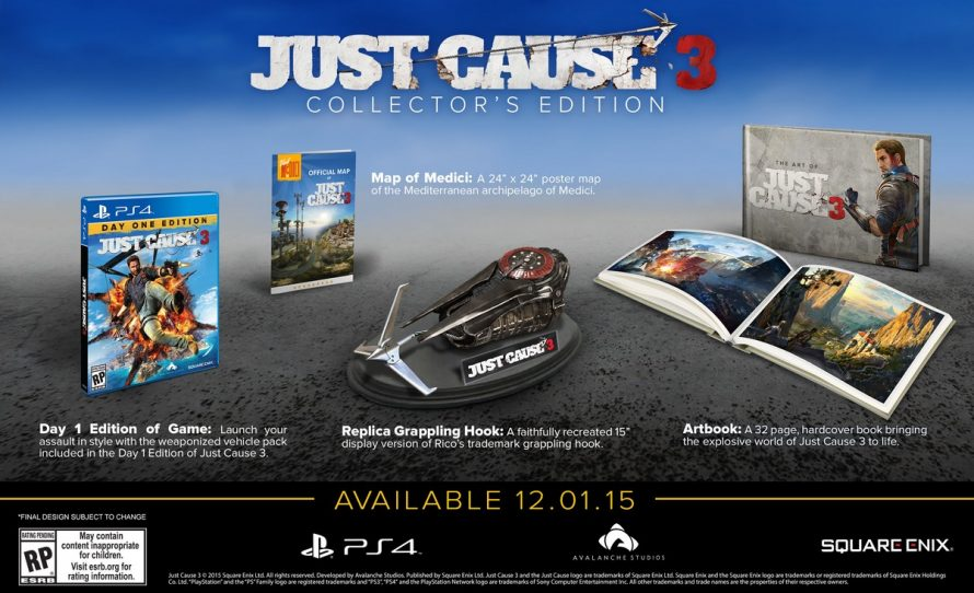 Just Cause 3 : l'édition collector PS4 se montre