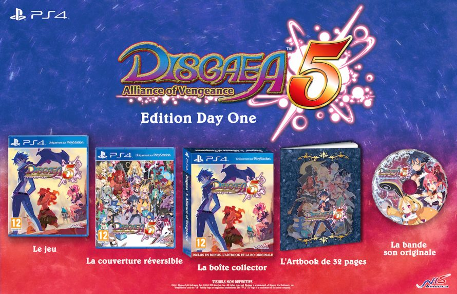 Une Édition Day One pour Disgaea 5: Alliance of Vengeance