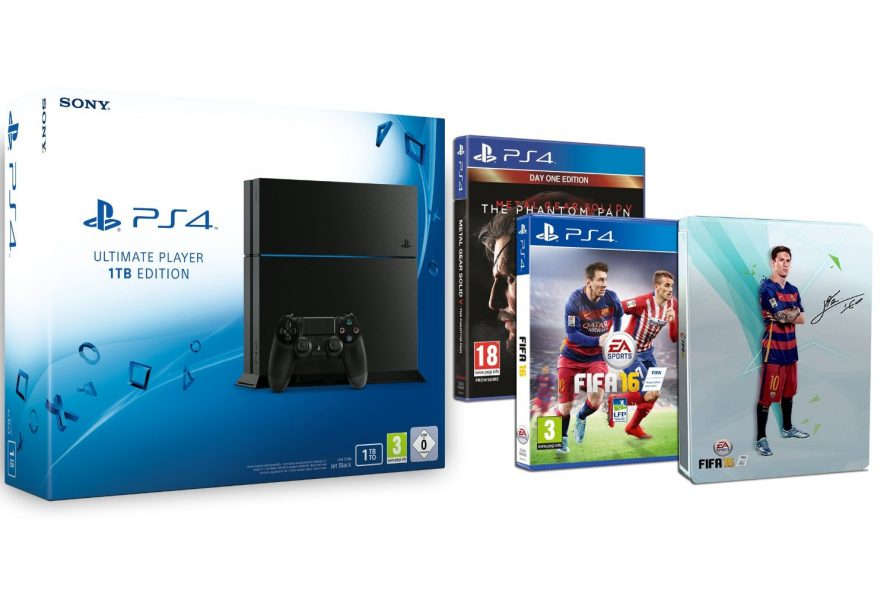 Promotion : PS4 1To + FIFA 16 + MGSV à 399€