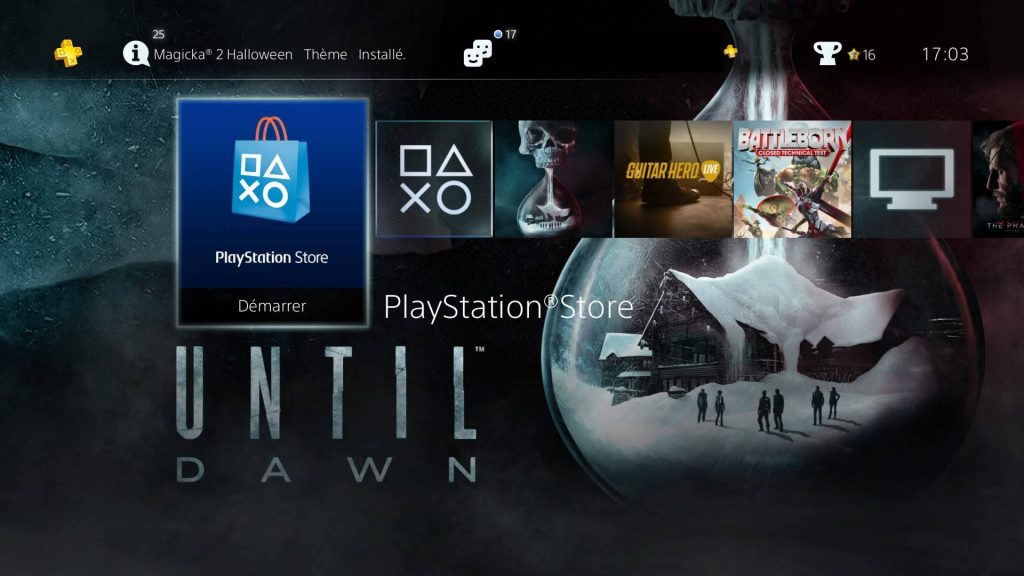 Theme Until Dawn screenshot 1