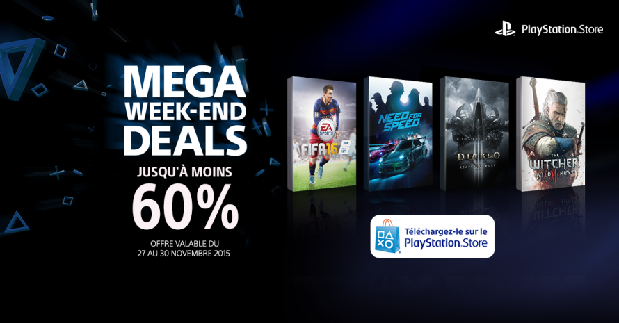 Mega week-end deals : Jusqu'à -60% sur le PlayStation Store