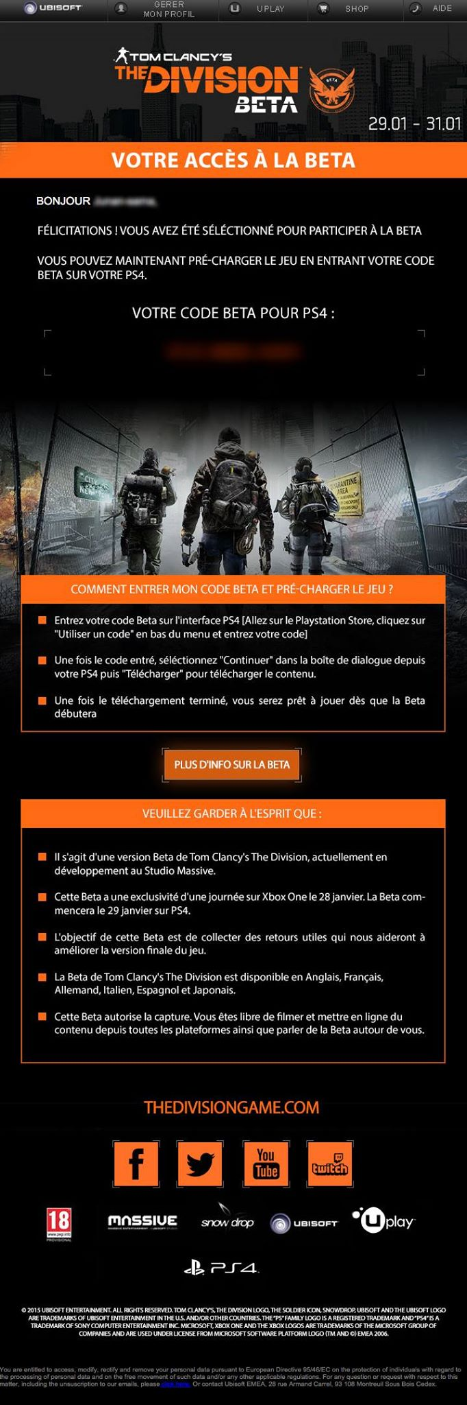 the division ps4 beta access