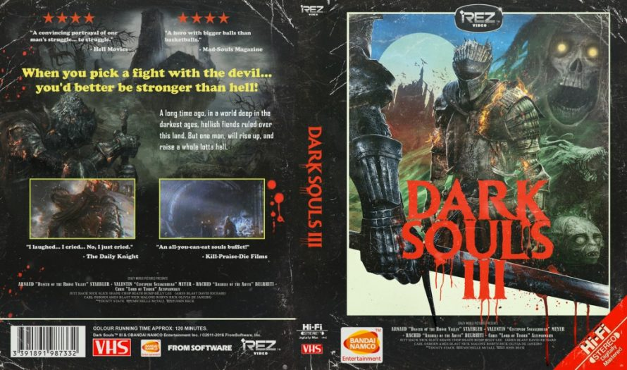 Dark Souls 3 s'offre une jaquette alternative style VHS