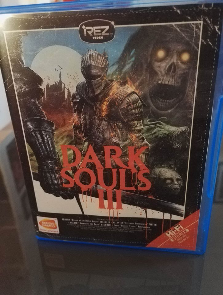 Jaquette VHS Dark souls 3 PS4