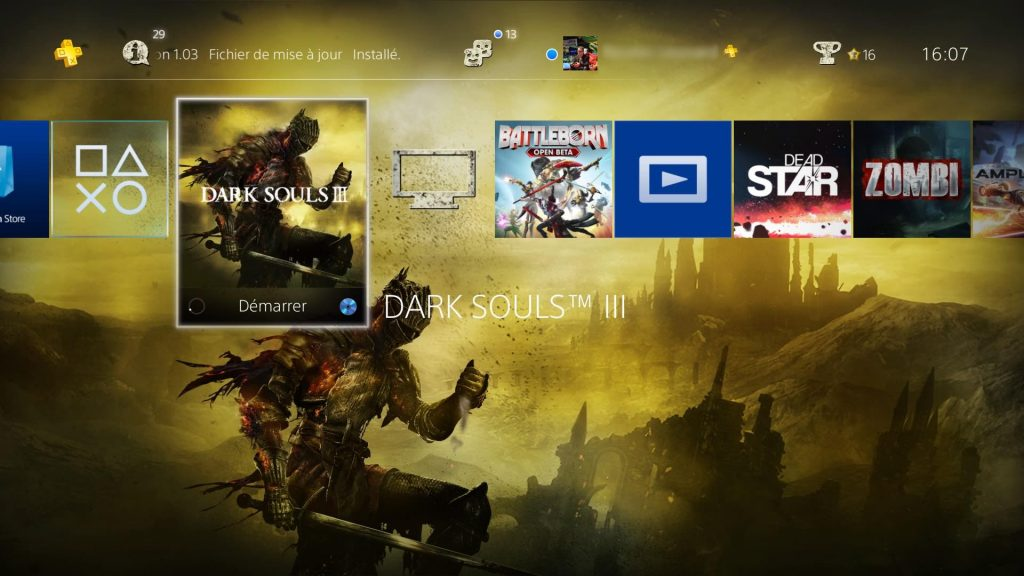 Screenshot theme PS4 dark souls 3