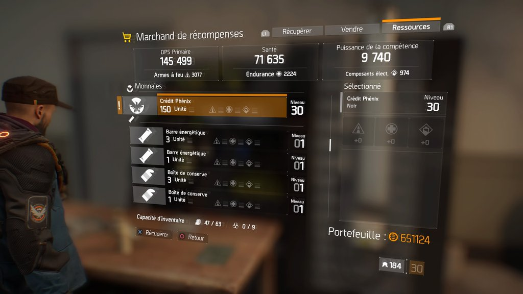 récompense The Division