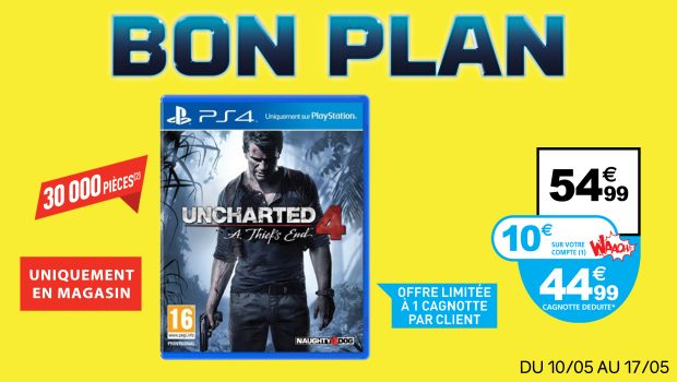 bon plan uncharted 4 auchan