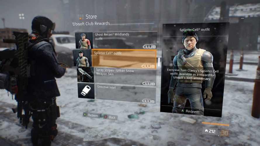 The Division : Des skins Splinter Cell, Ghost Recon et Rainbow Six gratuits