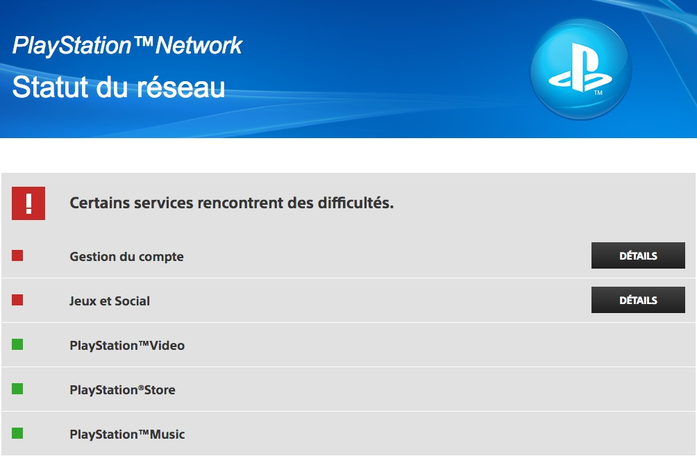 PSN Down septembre 2016