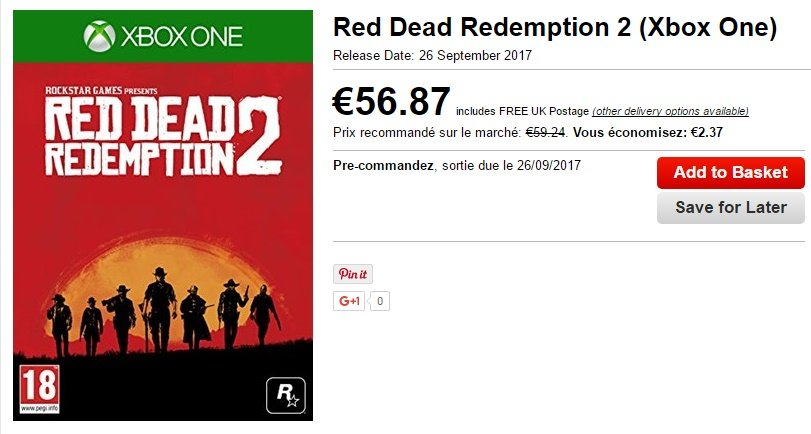 Red Dead Redemption 2 date Base