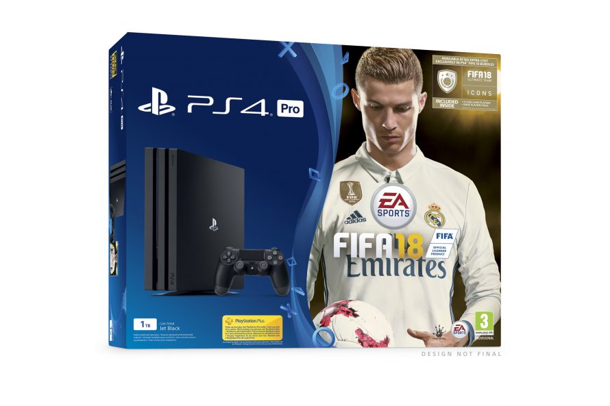 Plusieurs packs PS4 et PS4 Pro avec FIFA 18 annoncés