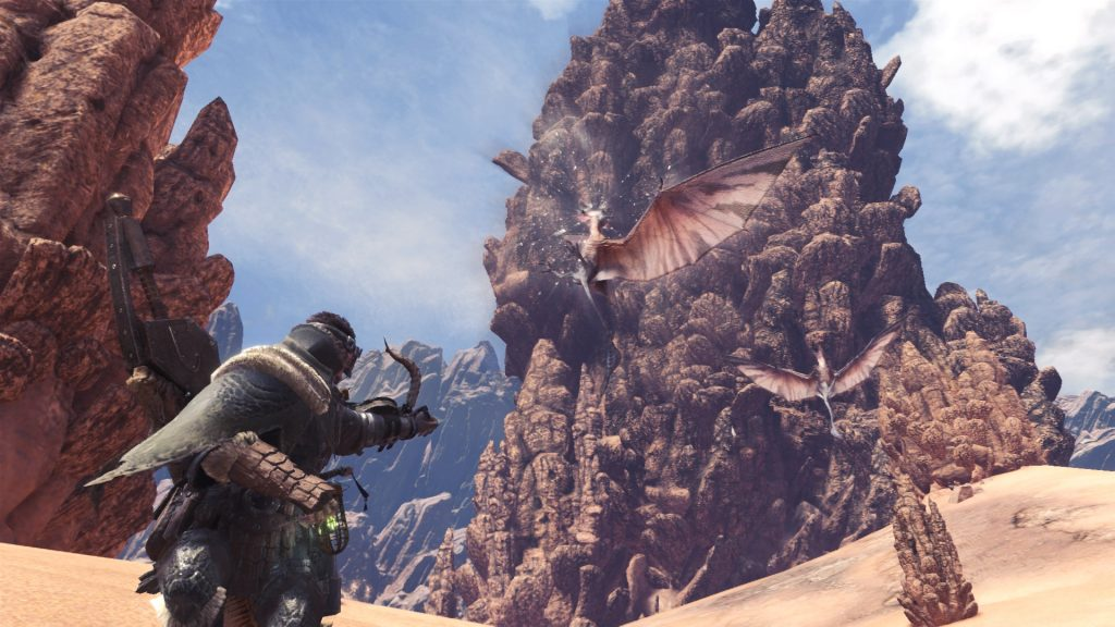 monster hunter world gameplay desert