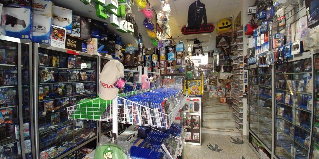 Trader Games, l'entrée de la boutique