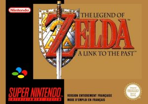La jaquette dorée de la version française de Zelda A Link To The Past