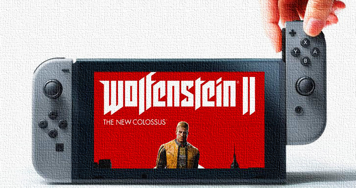 Du gameplay pour la version Nintendo Switch de Wolfenstein II: The New Colossus