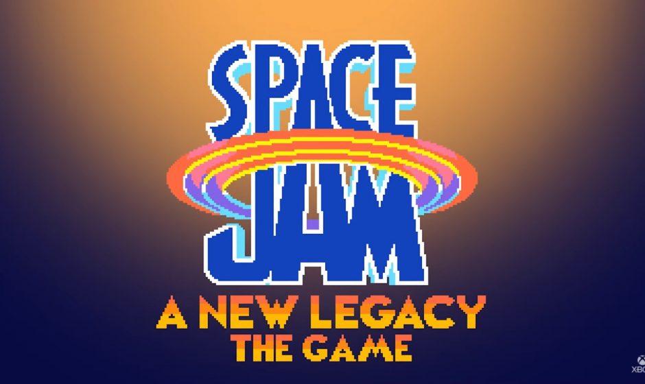 Un jeu et des manettes Xbox en rapport avec le film Space Jam: A New Legacy